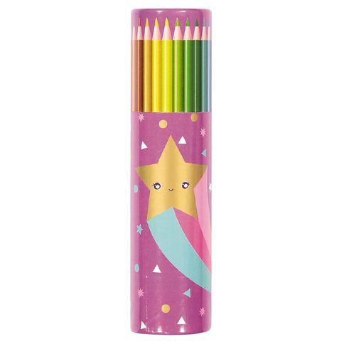 Kookie Star Colour Pencils 24 Pack Purple