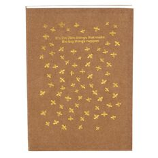 Uniti Bee Natural Kraft Notebook Brown A6
