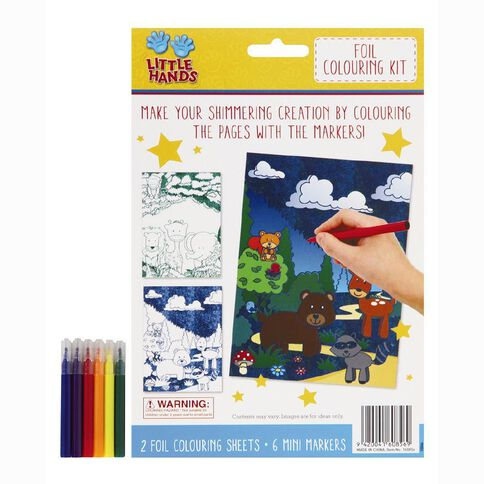Little Hands Metallic Foil Colouring Activity Kit