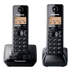 Panasonic Kx-Tg2722Nzb Twin Cordless Phone With Answerphone Black