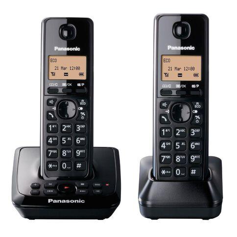 Panasonic Kx-Tg2722Nzb Twin Cordless Phone With Answerphone Black