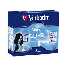 Verbatim Cd-R 80 Minutes 40X Audio 5 Pack Blue
