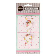 Rosie's Studio Paper Bow Kit 12 Pack Bright