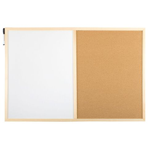 Workspace Combo Board 600 x 900mm Brown