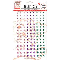 Blings Stick On Pink/Purple/Green Assorted