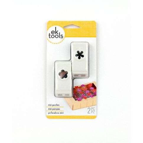Ek Success Punch Set Mini Flower & Retro White