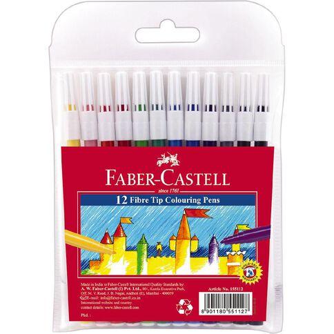 Faber-Castell Fibre Tip Colouring Pens 12 Pack