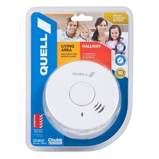 Quell 10 Year Photoelectric Smoke Alarm With Hush White