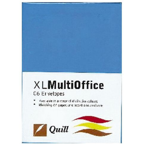 Quill Multioffice Envelopes C6 25 Pack Marine Blue