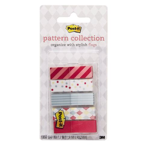 Post-It Pattern Flags 11.9mm x 43.2mm 100 Flags Candy Collection