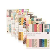 American Crafts Paper Pad 6in x 6in Assorted