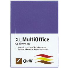 Quill Multioffice Envelopes C6 25 Pack Violet