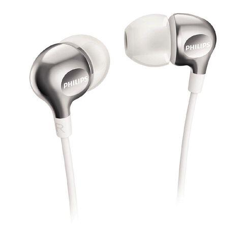 Philips In Ear Earbud Headphones SHE3700W White