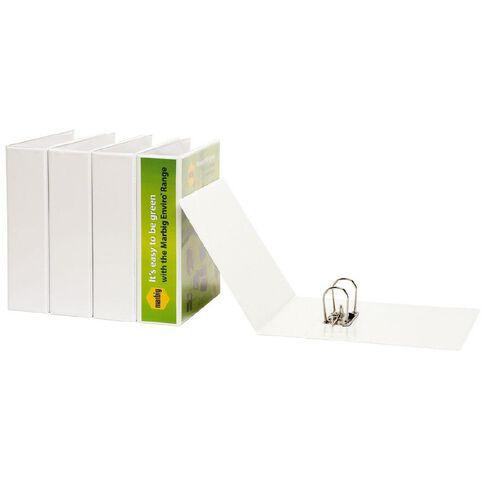 Marbig Lever Arch File Overlay Enviro White White A4