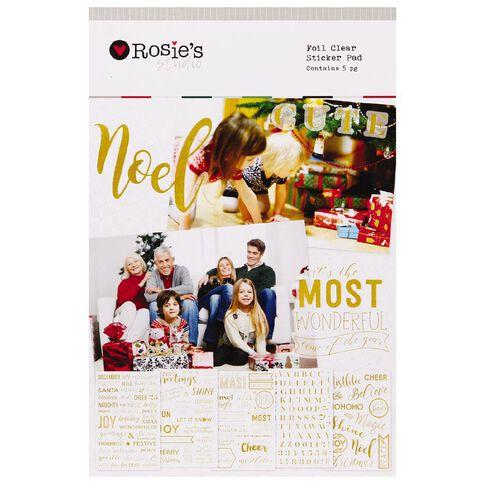 Rosie's Studio Festive Foil Clear Sticker Pad 5 Page