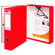 ColourHide Foolscap Linen Box File Red