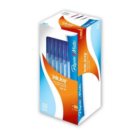 Paper Mate Inkjoy 100 1.0 50 Pack Blue