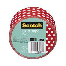 Scotch Duct Craft Tape 48mm x 9.14m Dottie