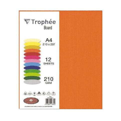 Trophee Board 210gsm 12 Pack Flame Red A4