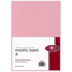 Metallic Board 285gsm 5 Pack Rose Quartz A4