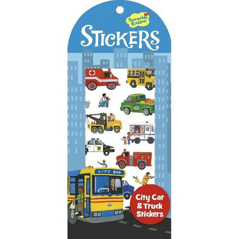 Peaceable Kingdom Stickers Pack City Car & Truck