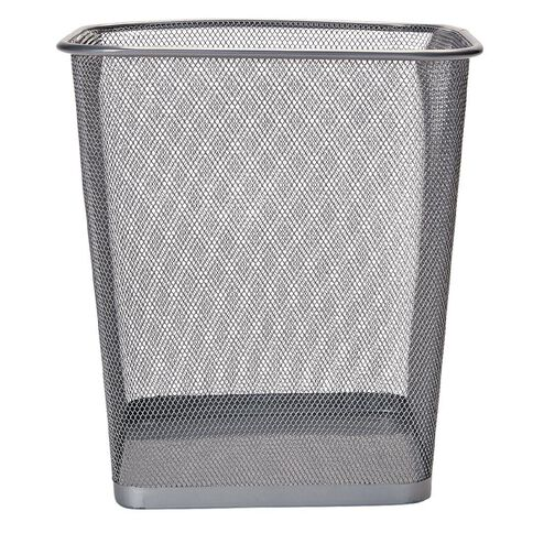 Impact Mesh Rubbish Bin Pewter Multi-Coloured