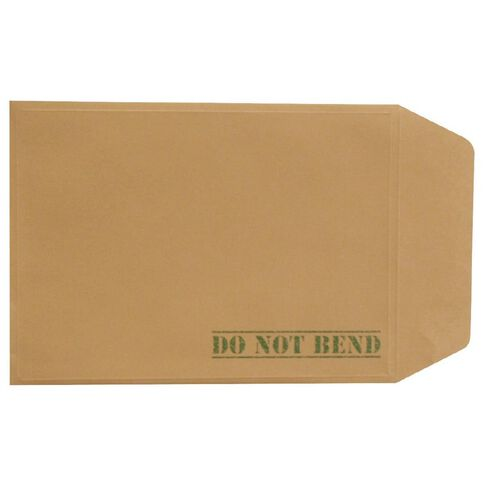 Envelope Board Backed Single Brown A6