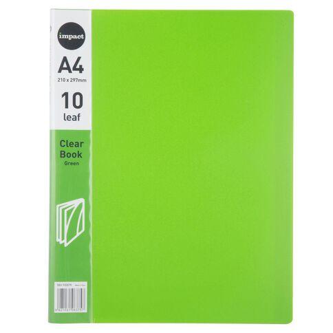 Impact Clear Book 10 Leaf Green A4