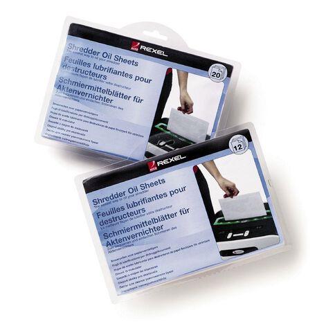 Rexel Shredder Oil Sheets 12 Pack Clear