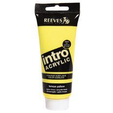 Reeves Acrylic Paint 100ml Lemon