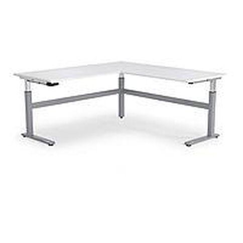 Cubit Height Adjustable Workstation 1800 White/Silver
