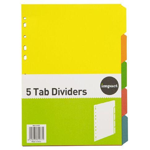 Impact Dividers Cardboard 5 Tab A4