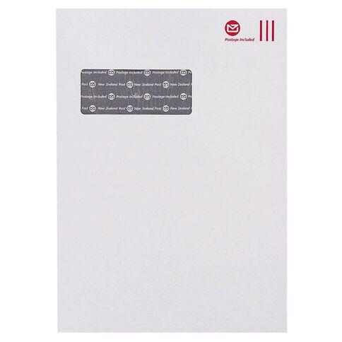 C4 Box New Zealand Post Envelope Prepaid Window 250 Pack White