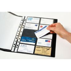 Marbig Business Card Pockets Pack 10