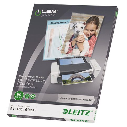Leitz iLam Udt Lamination Pouches A4 80mic 100 Pieces Clear