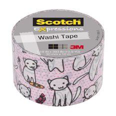 Scotch Washi Craft Tape 30mm x 10m Cats