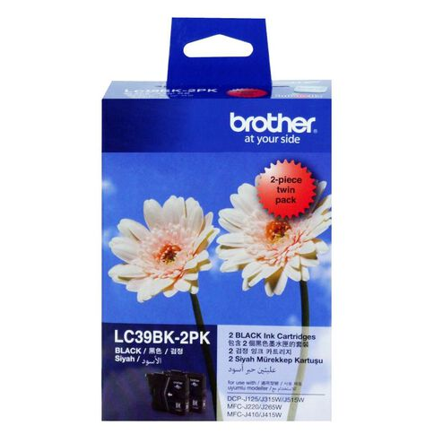Brother Ink Cartridge LC39 2 Pack Black