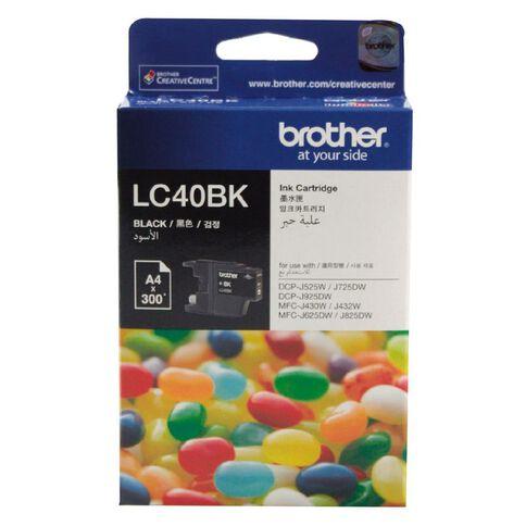 Brother Ink Cartridge LC40BK Black