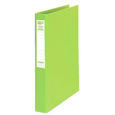 ColourHide Linen Ringbinder Lime