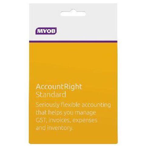 Myob Accountright Standard Activation Card