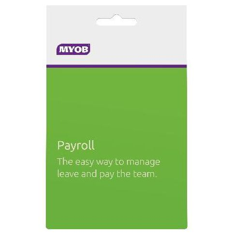 Myob Payroll Activation Card