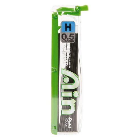 Pentel Pencil Leads H 0.5mm 40 Pack