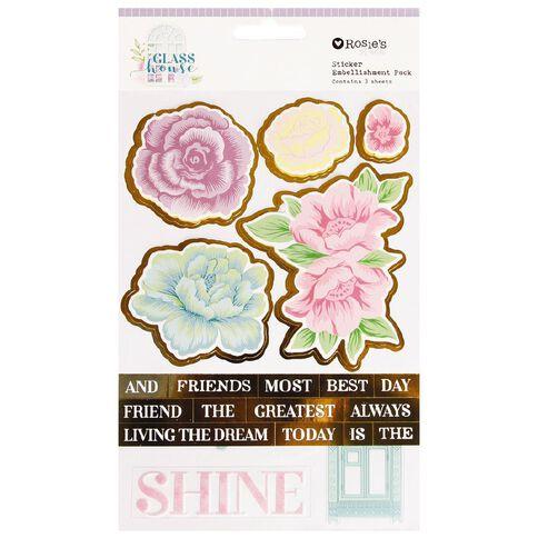 Rosie's Studio Glasshouse Layered Sticker Pack 3 Sheets