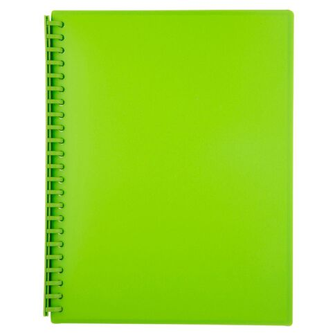 Impact Clear Book Refillable 20 Leaf Green A4