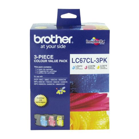 Brother Ink Cartridge LC67 3 Pack Multi-Coloured