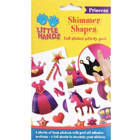 Little Hands Foil Shimmer Shapes Sticker Activity Princess