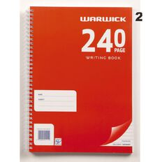 Warwick Spiral Exercise Book Red