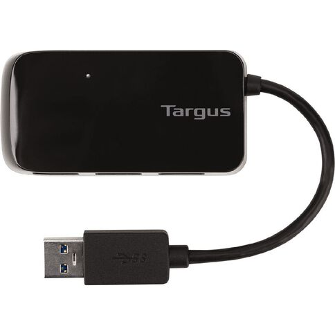 Targus 4-Port USB 3.0 Bus-Powered Hub Black