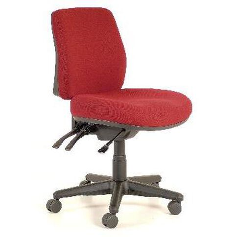 Buro Seating Roma 3 Lever Midback Chair Burgundy