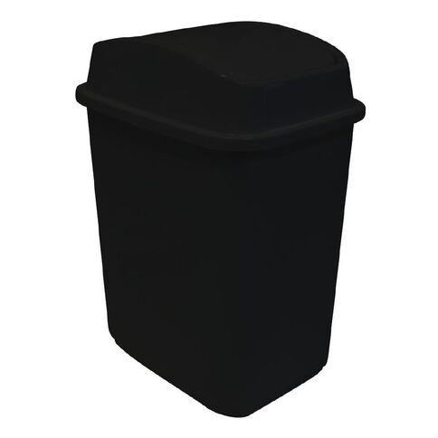 Italio Italio Flip-Lid Rubbish Bin 29L Black